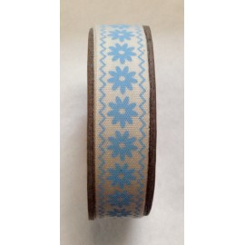 Tape roll with print Bird/Heart Blue