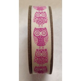 Tape roll with print of Hearts Fuchsia