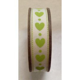 Tape roll with print heart-Green