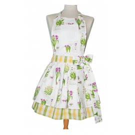 Apron bib vintage with. Yellow and Green