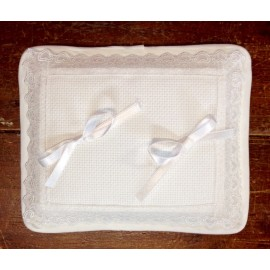 Ring bearer pillow, Rectangular with. Cream