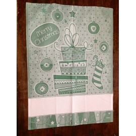 Tea towel Gifts, and Stocking with. Green