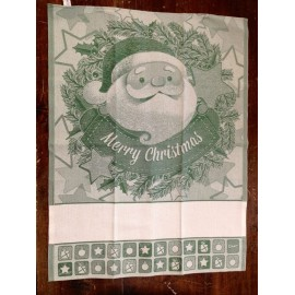 Cloth Santa Claus with. Green