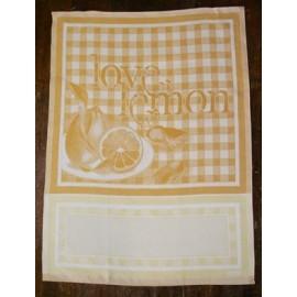 Strofinaccio Love Lemon col. Giallo