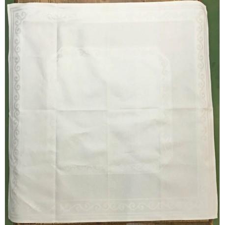 Tovaglietta centrotavola in tessuto damascato - col. Bianco