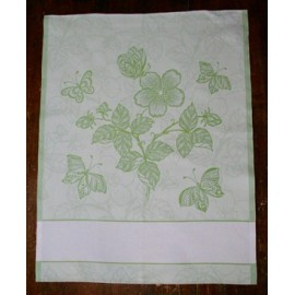 Cloth Butterflies and Flowers with. Green