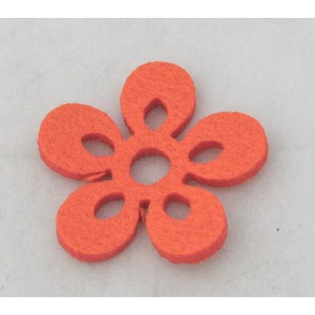 Cabochon flower col. Orange