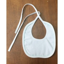 Bib baby with. White and blue
