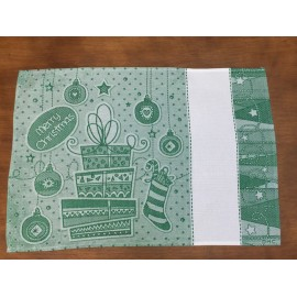 Placemat american Sock col. green