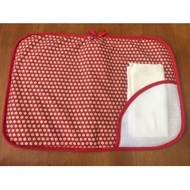 Placemat red american with a napkin