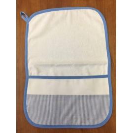 Asciugamano asilo righine azzurre