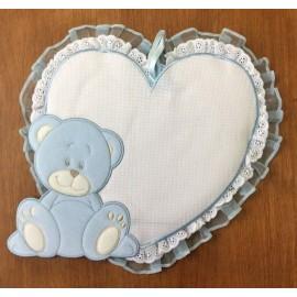 Coccarda nascita orso col. azzurro