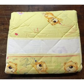 Cover quilted cot yellow