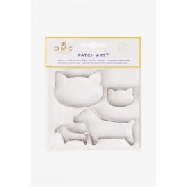 Forme in metallo cane e gatto