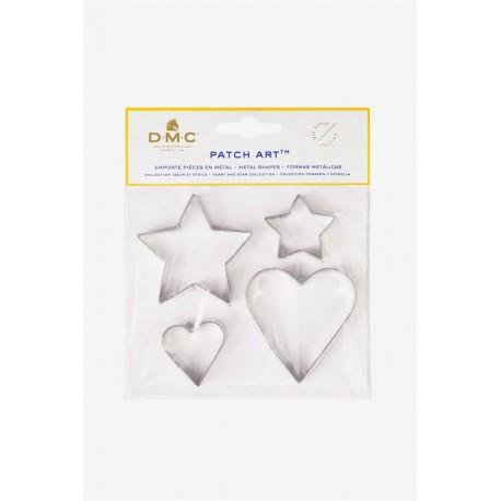 Forme in metallo cuore e stella