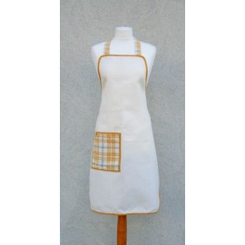 Apron bib - col. white/orange