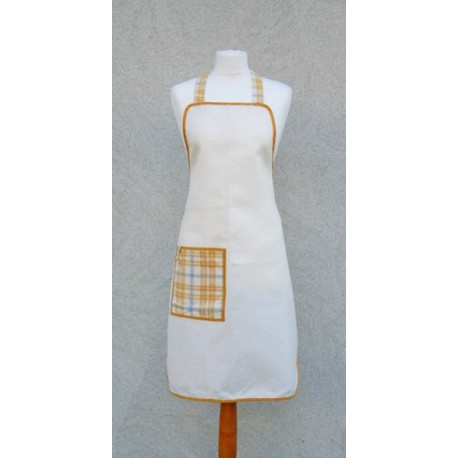 Apron bib plaid yellow