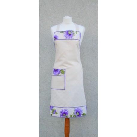 Grembiule pettorina fiori lilla