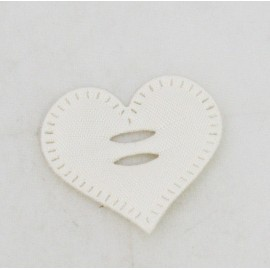 Cabochon heart with. Cream