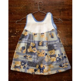 Dress the child with. Blue