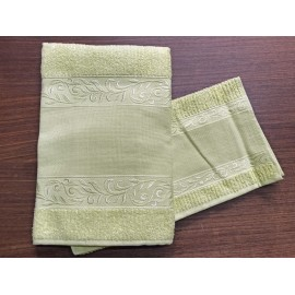 Couple towels from the bathroom, 'Verona' with. Green - 100% cotton