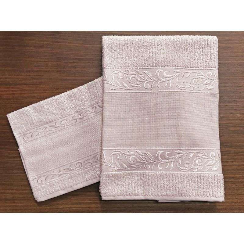 cb51af3242 Coppia asciugamani da bagno 'Verona' col. Rosa - 100% cotone