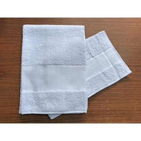 Coppia asciugamani da bagno 'Asti' col. Azzurro - 100% cotone