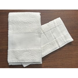 Couple towels from the bathroom, 'Asti' with. White - 100% cotton