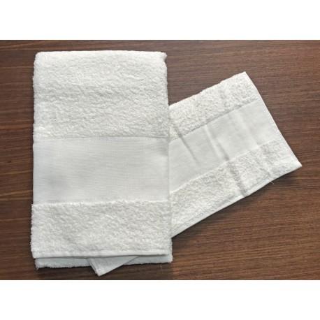 Coppia asciugamani da bagno 'Asti' col. Bianco - 100% cotone