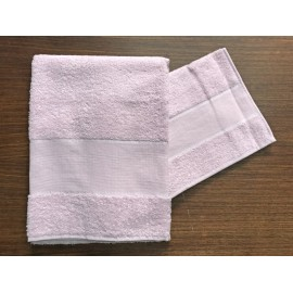 Couple towels from the bathroom, 'Asti' with. Pink - 100% cotton
