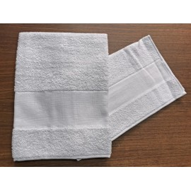 Couple towels from the bathroom, 'Asti' with. Grey - 100% cotton