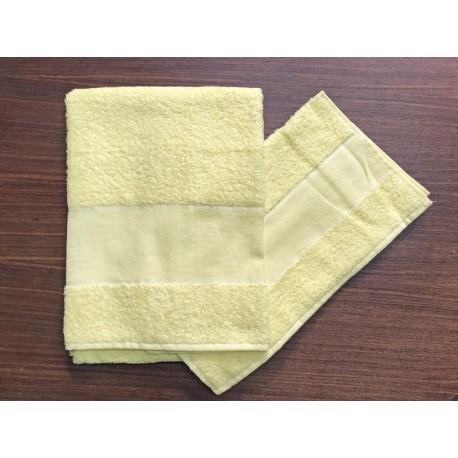 Coppia asciugamani da bagno 'Asti' col. Giallo - 100% cotone
