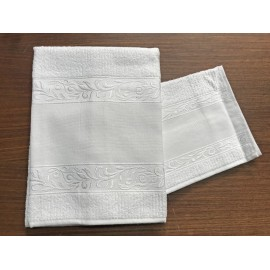 Couple towels from the bathroom, 'Verona' with. White - 100% cotton
