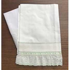 A cover sheet baby cot 3 pcs white Sangallo
