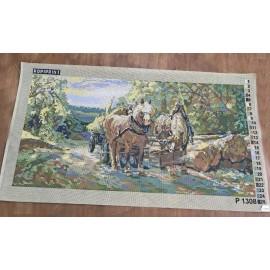 Cloth 45x90 art. P1308 Horses