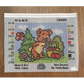 Canvas 14x18 art. C849K teddy Bear