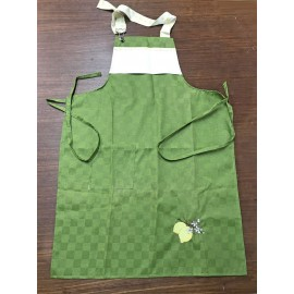 Apron Bib - col. red/mistletoe