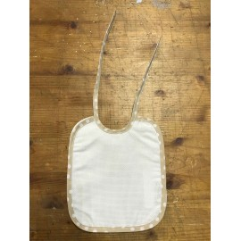 Bib baby with. White and green water