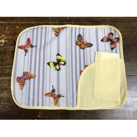 Placemat american col. White with animals