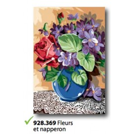 Canvas Fleurs et napperon art. 928.369