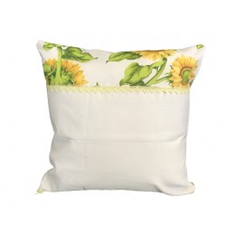 Cover the cushion with. ecru