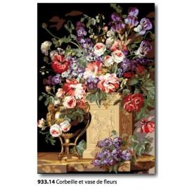 Cloth Corbeille et vase de fleurs art. 933.6714