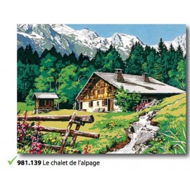 Canvas Le chalet de l'alpage art. 981.139
