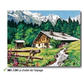 Canvas Le chalet de l'alpage art. 981.139