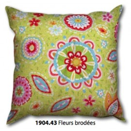 Canvas Cushion Fleurs brodées art.1904.43/1910.43