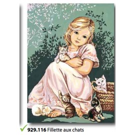 Canovaccio Fillette aux chat art. 929.116