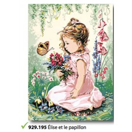 Canvas Elise et le papillon art. 929.195