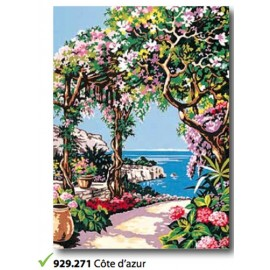 Cloth Cote d'azur in the art. 929.271