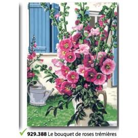 Canvas Le bouquet de roses trémières art. 929.388