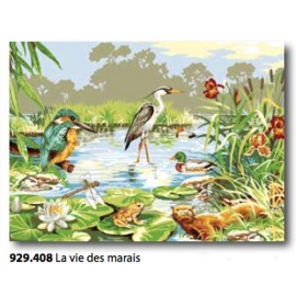 Canvas La vie des marais art. 929.408